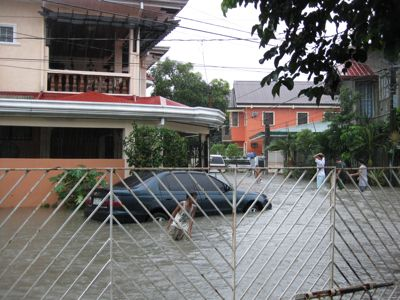 Flooded Outside Our Gate