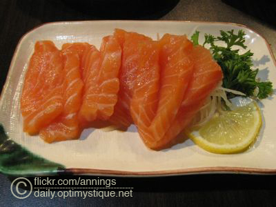 Salmon sashimi goodness!