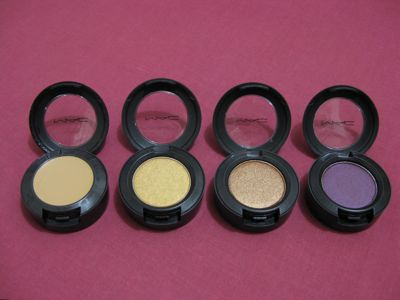 concealer and eye shadows